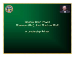 Colin Powell Leadership Quotes Problems Picture