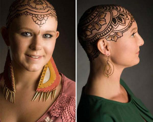 cancer patients 10 Beautiful Henna Crowns On Bald Head Of These Cancer ...