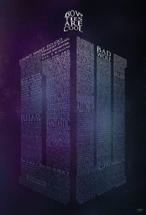 Made completely out of Doctor Who quotes…yes I need this poster!