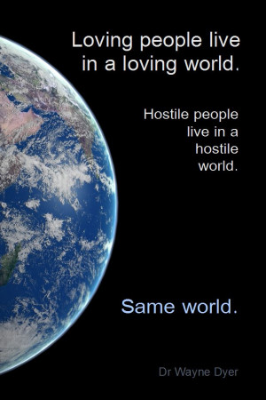 world view of conflict, or a world view of unity in diversity. Which ...