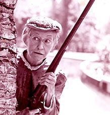 Granny from The Beverly Hillbillies. More