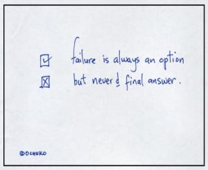 failure is an option not final answer quote