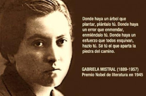 From Gabriela Mistral