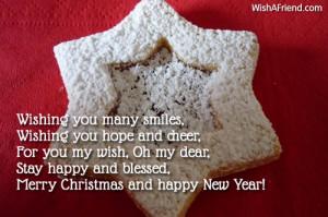 Wishing you many smiles, Wishing