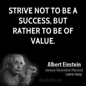 Albert Einstein Success Quotes