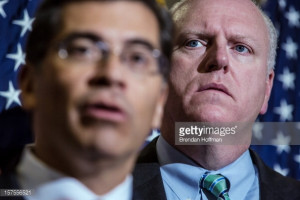 News Photo : Rep Xavier Becerra and US Rep Joseph Crowley hold...