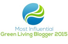 Most Influential Green Living Blogger 2015 Award