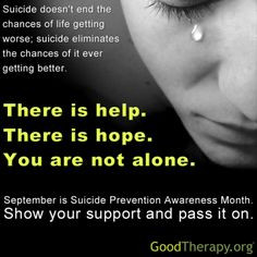 ... suicide, you can call the National Suicide Prevention Lifeline at 1