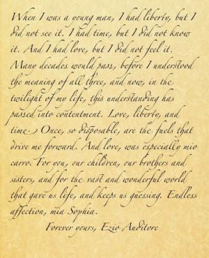 Letter Written by Ezio Auditore da Firenze