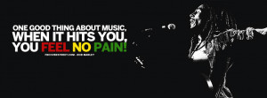 ... Herb Bob Marley Quote One Good Thing About Music Bob Marley Quote Blue