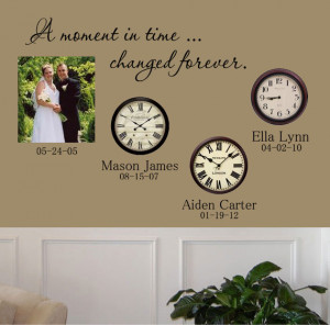 Moment In Time Changed Forever Decal
