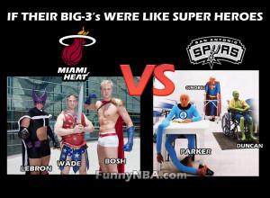 If the Big-3 were SuperHeroes