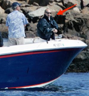 Bush, left and Russian President Vladimir Putin, fish near the Bush ...