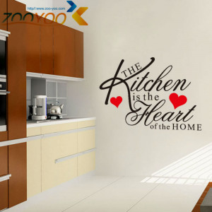 ... Quote Vinyl Art Wall Stickers Mural kitchen decor waterproof tile wall