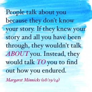 Talk to people ... not about them.