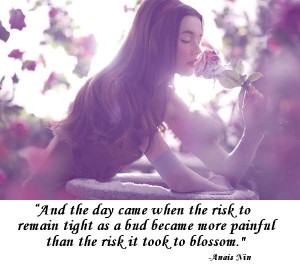 motivation monday Inspirational quote about blossom & Picture of woman ...