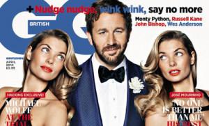 Chris O'Dowd Cradles Victoria's Secret Model in 'British GQ'