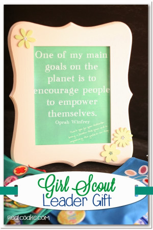 gift idea for a Girl Scout Leader Gift with a free Inspirational Quote ...