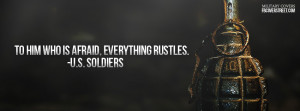 Soldiers Arent Afraid Facebook Cover