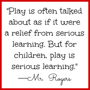 as an individual and the importance of play based learning