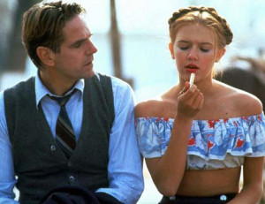 Jeremy Irons and Dominique Swain played Humbert and Lolita in the1997 ...