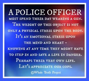 Let's appreciate our cops.