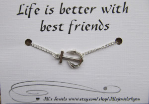Anchor Quotes About Family Anchor charm anklet and quote