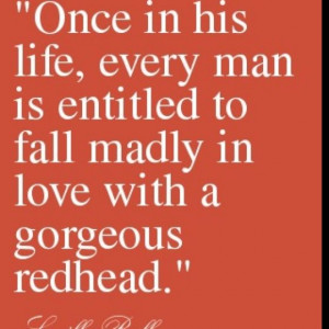 red head quotes | Pinned by Amanda McLaws