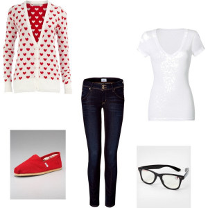 "Nerdy Valentine's Day Outfit!"" by kirstie-mariee on Polyvore ..."