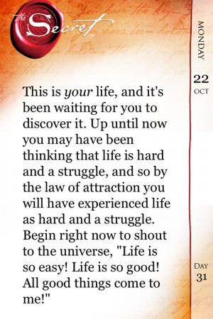 """... Secret"""" Quotes – The Law of Attraction – Secrets –Laws-Quote"""
