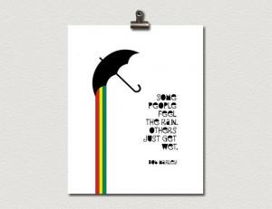 ... www.etsy.com/listing/121466800/rasta-umbrella-bob-marley-quote-poster