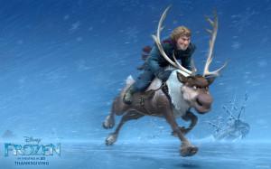 Frozen Movie Kristoff & Sven HD Wallpaper