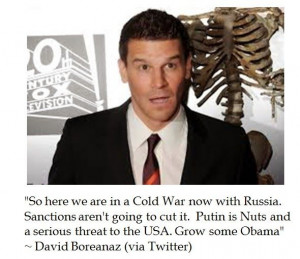 ... Boreanaz Has Some Bones to Pick About Obama's Foreign Policy (sic