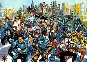 The cast of the original Valiant Universe