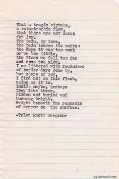 Typewriter Series #292 by Tyler Knott Gregson
