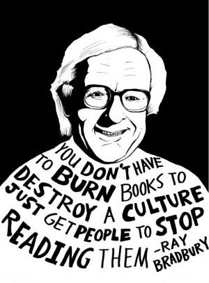 books, quote, ray bradbury, banned books