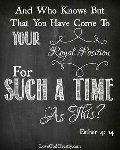 FREE Printable Bible Verse - Esther 4:14.