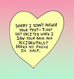 Sorry I Love You Quotes Excited, yellow, quote, love,