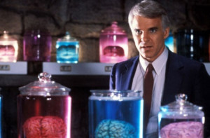 The Man with Two Brains - Brains in jars