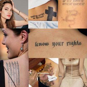 Los tatuajes de Angelina Jolie
