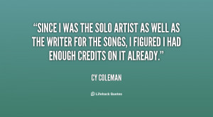 cy coleman quotes