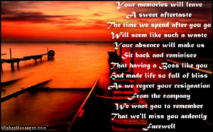 Touching farewell speech poem to boss at work Farewell Poems for Boss ...