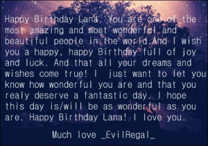 made this for Lana's Birthday and already posted this on Twitter.
