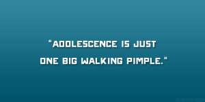 """Adolescence is just one big walking pimple."""""""