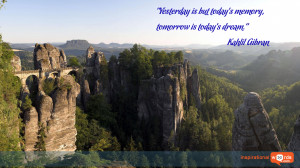Inspirational Wallpaper Quote by Kahlil Gibran