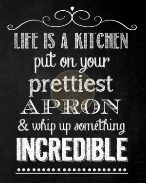 Digital Chalkboard - Kitchen Food Quote
