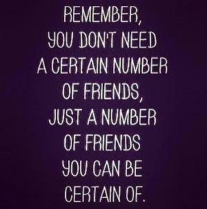 Many acquaintances; few close friends