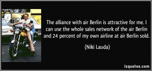 with air Berlin is attractive for me. I can use the whole sales ...