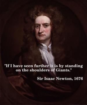 Isaac newton quotes sayings teamwork giants shoulders
