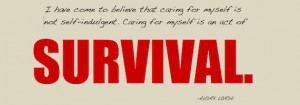 Military Wife Quote: Caring for Myself is an Act of Survival